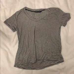 black and white striped brandy tshirt